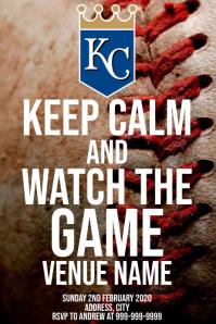 Template sports baseball Kansas City Royals Poster