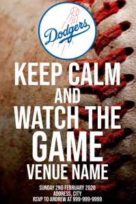 Template sports baseball Los Angeles Dodgers Poster