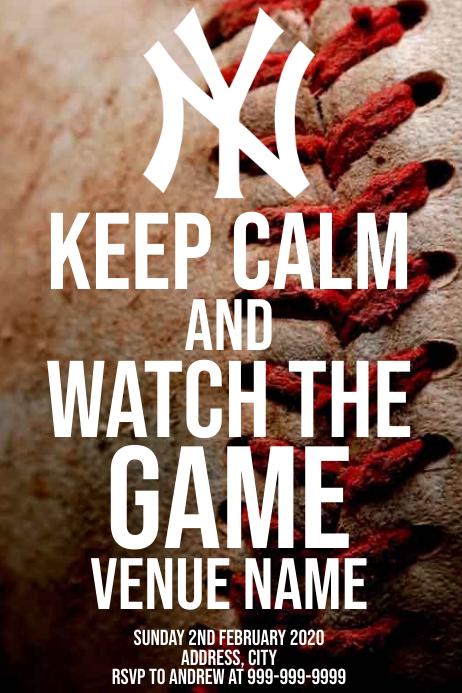 Template sports baseball New York Yankees Poster