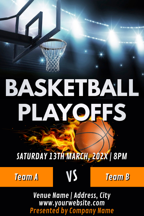 Template sports basketball Poster