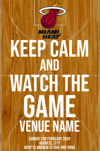 Template sports basketball miami heat