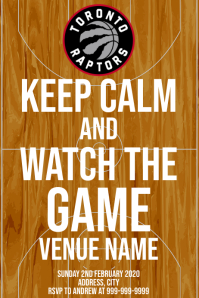 Template sports basketball toronto raptors Poster