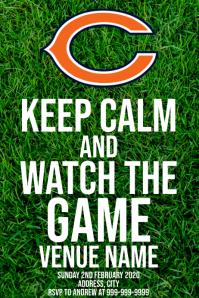 Template sports football chicago bears Plakkaat