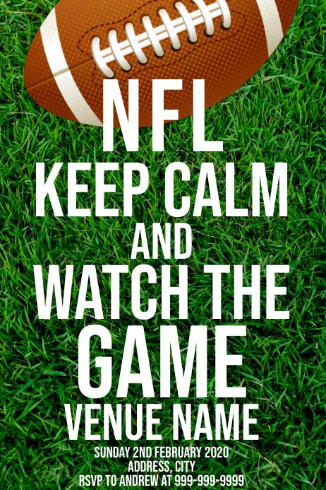 Template sports football NFL Affiche