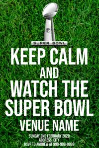 Template sports football NFL super bowl
