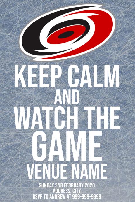 Template sports hockey carolina hurricanes Poster