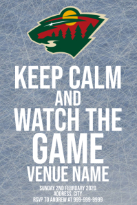 Template sports hockey minnesota wild Poster