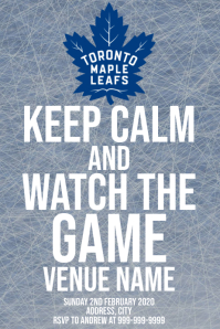 Template sports hockey toronto maple leafs Poster