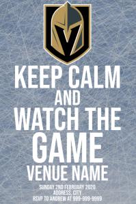 Template sports hockey vegas golden knights Poster