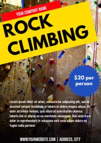 Template sports rock climbing