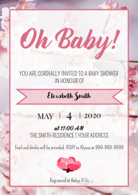Template Spring Baby Shower