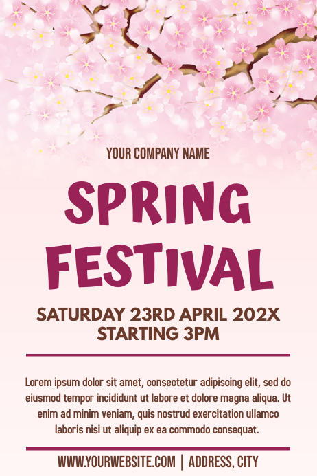 Template spring festival
