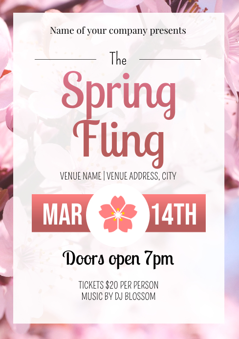 Template spring fling A4