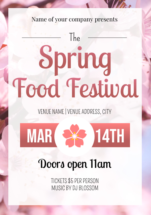 Template spring food festival A4