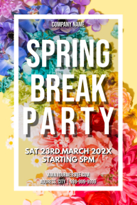 Template spring march break party