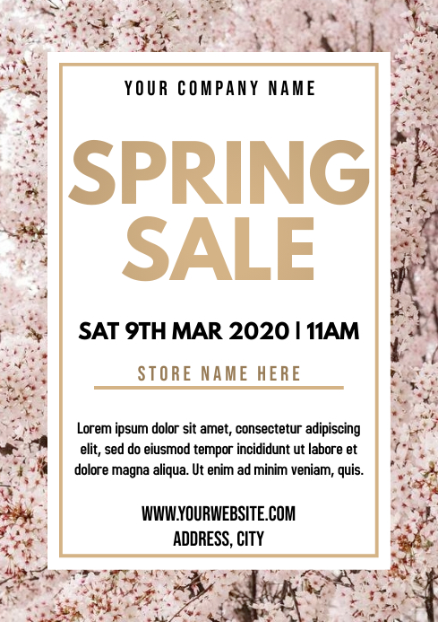 Template spring retail A4