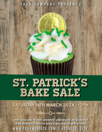 Template st patrick's bake sale