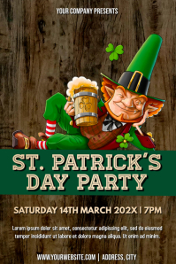 Template st patrick's day Poster