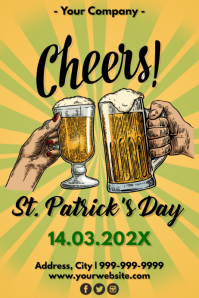 Template st patrick's Poster