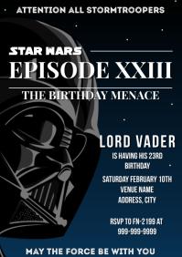 Template star wars birthday