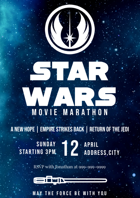 Template star wars movie