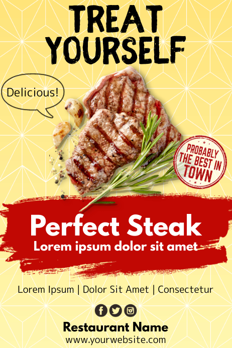 Template steakhouse Poster