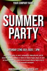 Template summer party Plakat