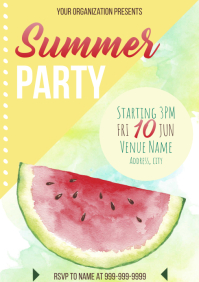 Template summer party A4