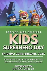 Template superhero day