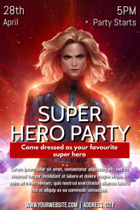 Template superhero party