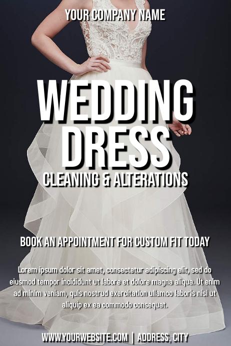 Template tailor wedding dress
