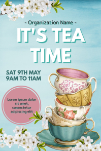Template tea Poster