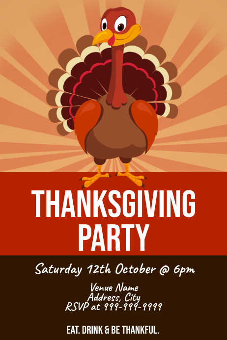 Template thanksgiving Poster