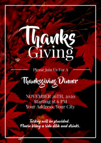 Template thanksgiving dinner potluck
