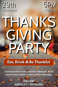 Template thanksgiving party