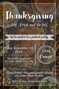 Template Thanksgiving Potluck