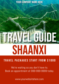 Template travel china shaanxi