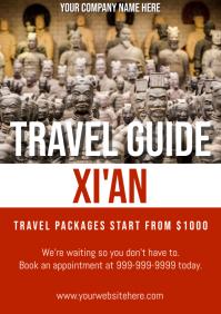 Template travel china xi'an