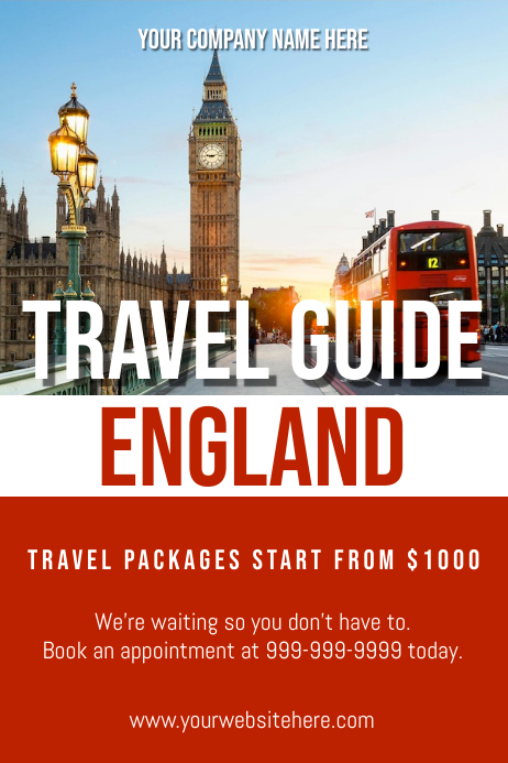 Template travel england Poster