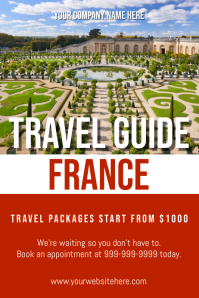 Template travel france Poster