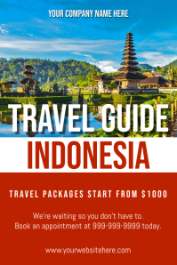 Template travel indonesia Poster