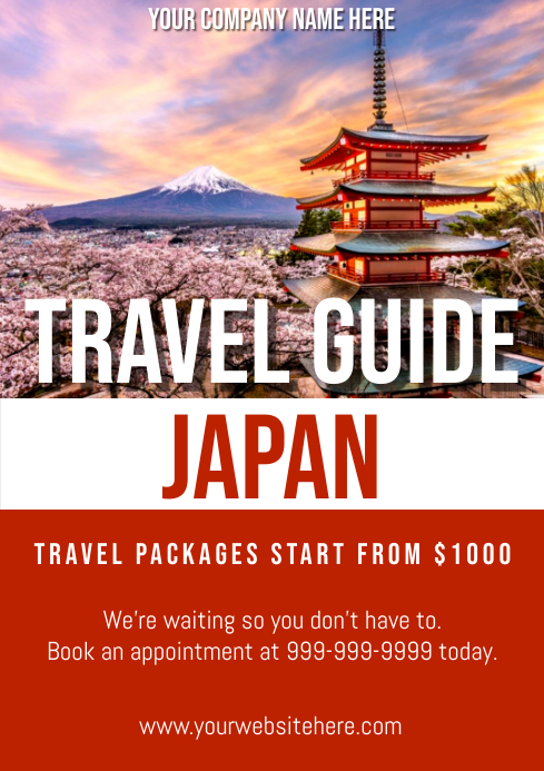 Template travel japan