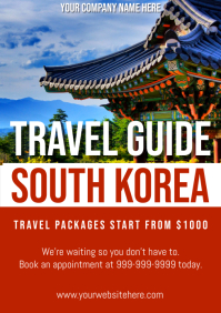 Template travel korea