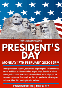 Template US president's day A4