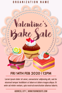 Template valentine's bake sale