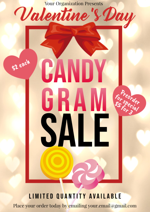 Template valentines candy gram sales A4