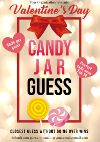 Template valentines candy jar guess