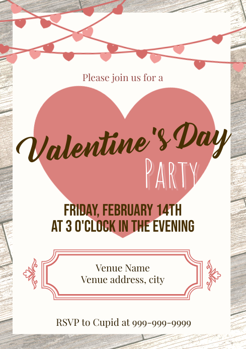 Template valentines party