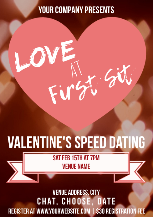 Template valentines speed dating