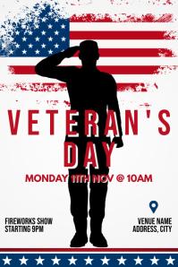 Template veteran's day Poster